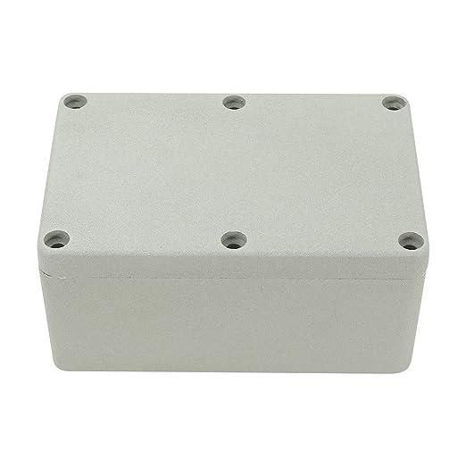 Aexit Caja de conexiones de aluminio de 4.7 x3.2 x2.2 ...
