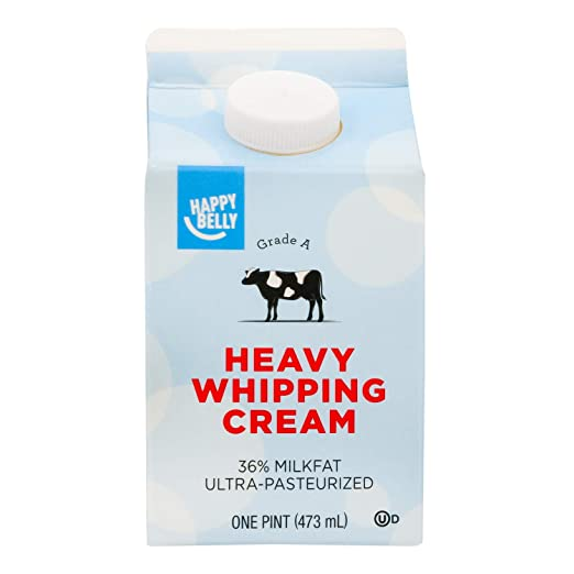 Amazon Brand - Happy Belly Heavy Whipping Cream, Ultra-Pasteurized, Kosher, Pint, 16 Ounces: Amazon.com: Grocery & Gourmet Food