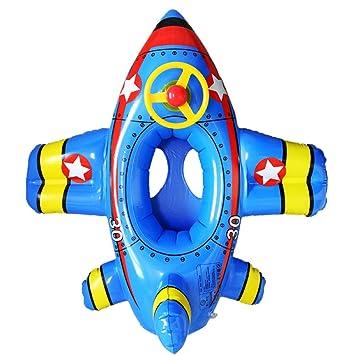 Hot Chili 100*90cm Avión con Bocina Flotador Hinchable Barca con Asiento para Niño de 1-6 Años (Azul): Amazon.es: Deportes y aire libre