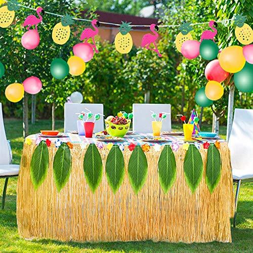 50 Pieces Mixed Color Umbrellas and 50 Pieces Colorful 3D Fruit Straws Frienda-Party Decorations-01 24 Pieces Hawaiian Flowers Frienda 148 Pieces Luau Themed Party Decorations 24 Pieces Tropical Palm Leaves