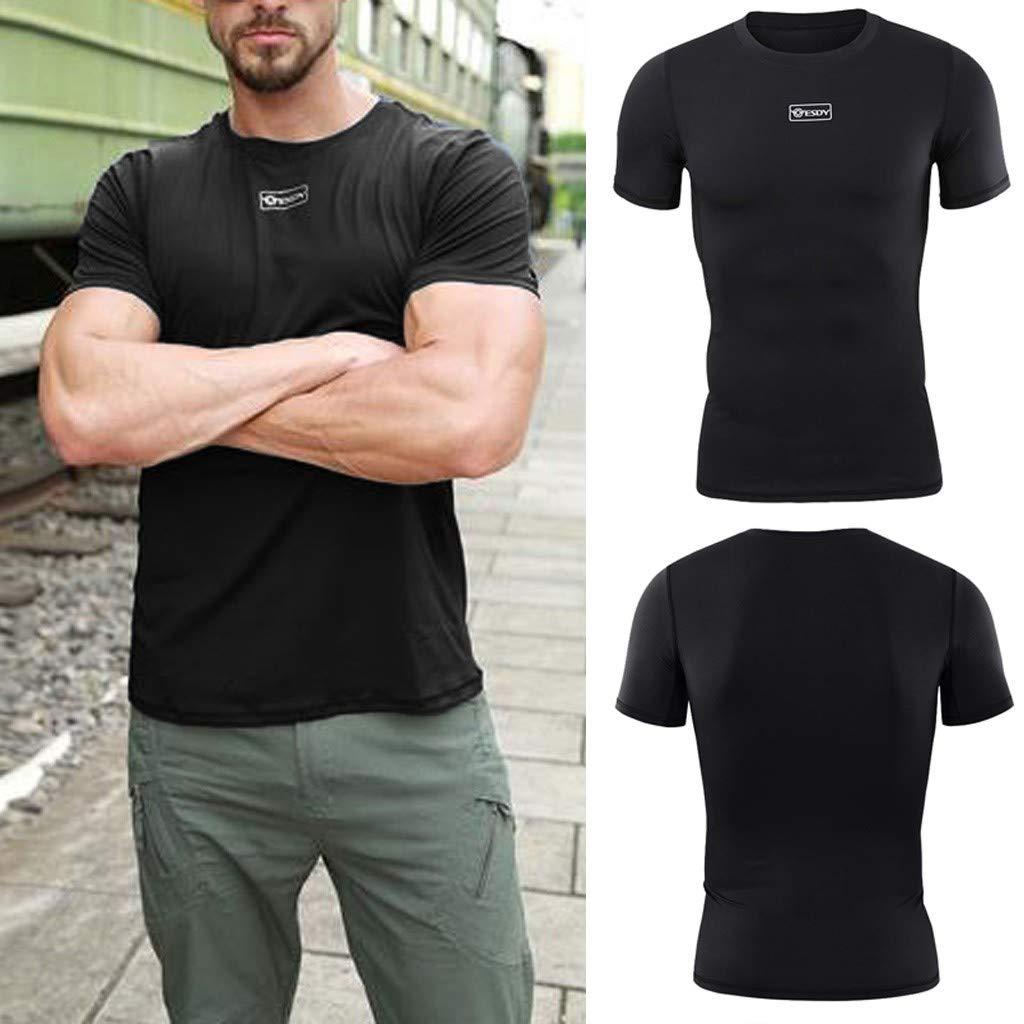 ZODOF Camiseta Hombre Militares Camisetas Deporte Ropa Deportiva Camisa de Manga Corta Slim fit Casual para Hombres Tops Blusa: Amazon.es: Ropa y accesorios