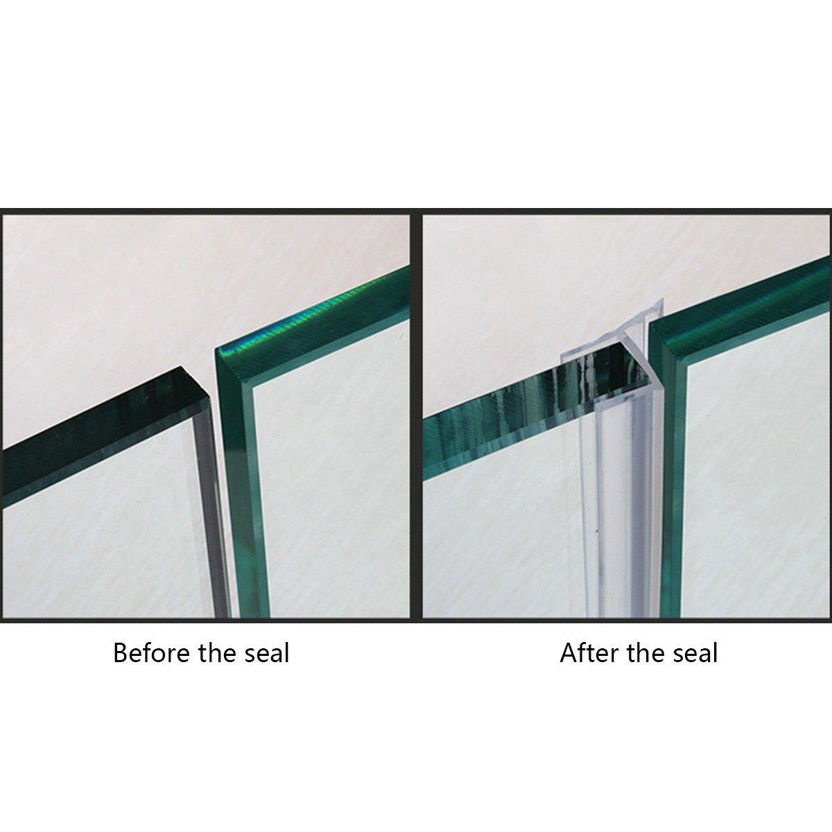 Glass Shower Door Seal, Frameless Glass Door Gasket Shower ...