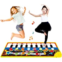 Touch Play Keyboard, Music Singing Gym Carpet Mat for Baby Toddler Piano Keyboard Floor Mat Carpet Funny Play Blanket…