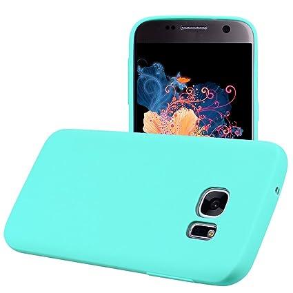 Yunbaozi Funda para Samsung Galaxy S7 Edge, Protective Case Carcasa Caucho Funda para Protectora de Silicona Caramelo Ultra Suave Flexible Delgado ...