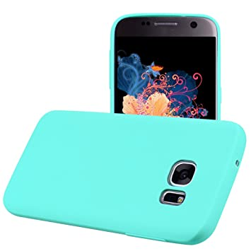 Yunbaozi Funda Compatible para Samsung Galaxy S6 Edge Protective Case Carcasa Caucho Funda Protectora de Silicona Caramelo Ultra Suave Flexible ...