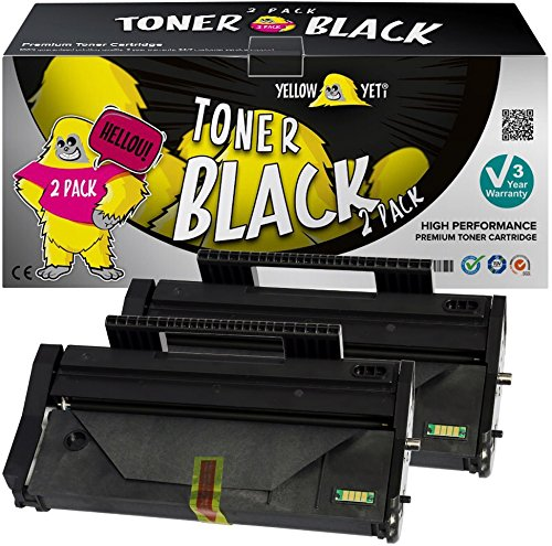 Yellow Yeti 407166 (1,200 Pages) 2 Compatible Toner