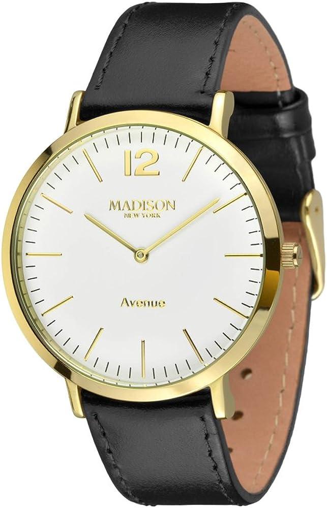 Madison NEW York Avenue reloj de pulsera reloj de pulsera para mujer de cuero L4741C2