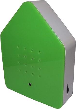 La caja de trinos - el sensor de sonido genera el canto de los pájaros. Relajante y refrescante. Objeto de diseño de 11 x 15 cm verde: Amazon.es: Bricolaje y herramientas