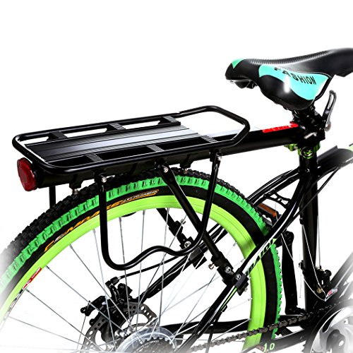 Discover Bargain Flagup 110 Lbs Capacity Universal Adjustable Rear Bike Rack Bicycle Luggage Cargo R...