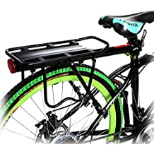 Flagup 110 Lbs Capacity Universal Adjustable Rear Bike Rack Bicycle Luggage Cargo Rack Aluminum Alloy Bicycle Carrier Racks Bicycle Accessories