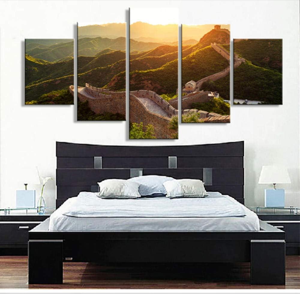 GTomorrow Cuadro En Lienzo La Gran Muralla Vista del Amanecer 150X80Cm(A) Abstractos Impresiones sobre Lienzo, Lienzos Decorativos Adecuado para Cuadros Dormitorios