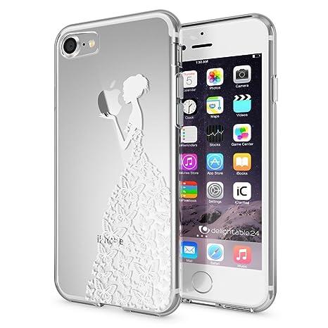NALIA Funda Compatible con iPhone 7, Motivo Design Movil Protectora Ultra-Fina Carcasa Silicona Cubierta Goma Gel Estuche Telefono Bumper Ligera Cover ...