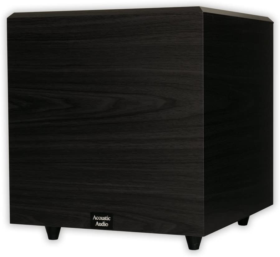 Acoustic Audio RWSUB12 Home Theater Powered 12 Subwoofer Black Down Firing Sub
