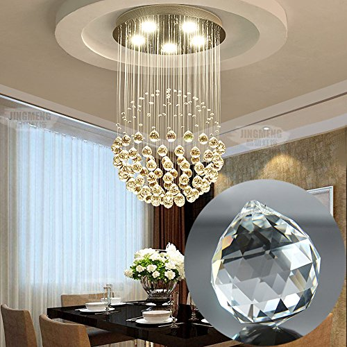 Clear Faceted Glass Crystal Ball, Adv-one Chandelier Crystal Ball Prisms Drops Wedding Decorations, Ceiling Lamp Lighting Hanging Chandelier Drop (20mm)