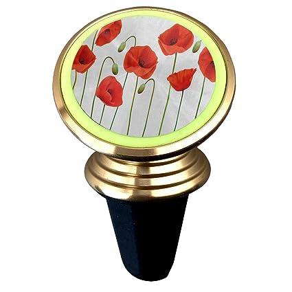 Amazon Magnetic Car Holder Rotation Universal Cartoon Red Poppy