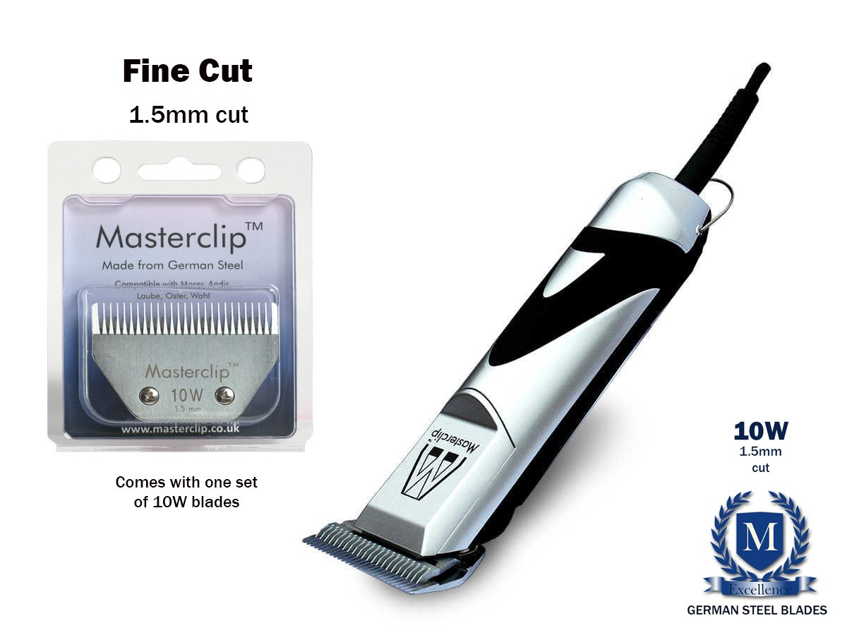 Fine cut with 1 blade Masterclip Royale Horse Clippers with the blades of your choice 2 year UK Warranty