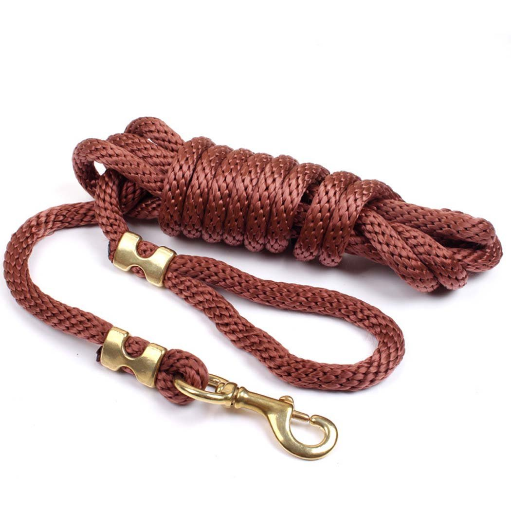 Brown Leash, Strong Nylon Ribbon Crude Dog Lead Sizes Dog Leash for Dogs to Training, Walking, Jogging (color   Brown)