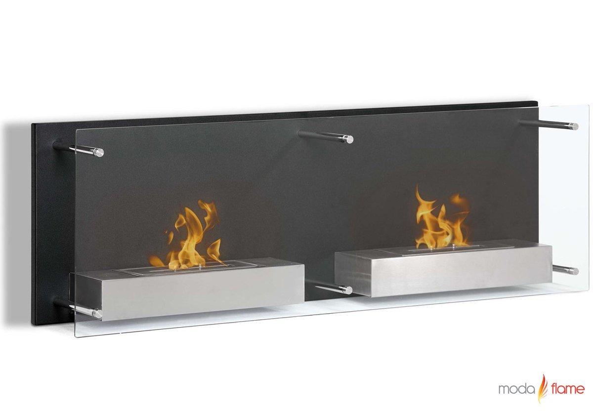 Moda Flame Faro Wall Mounted Bio Ethanol Ventless Fireplace by Regal Flame