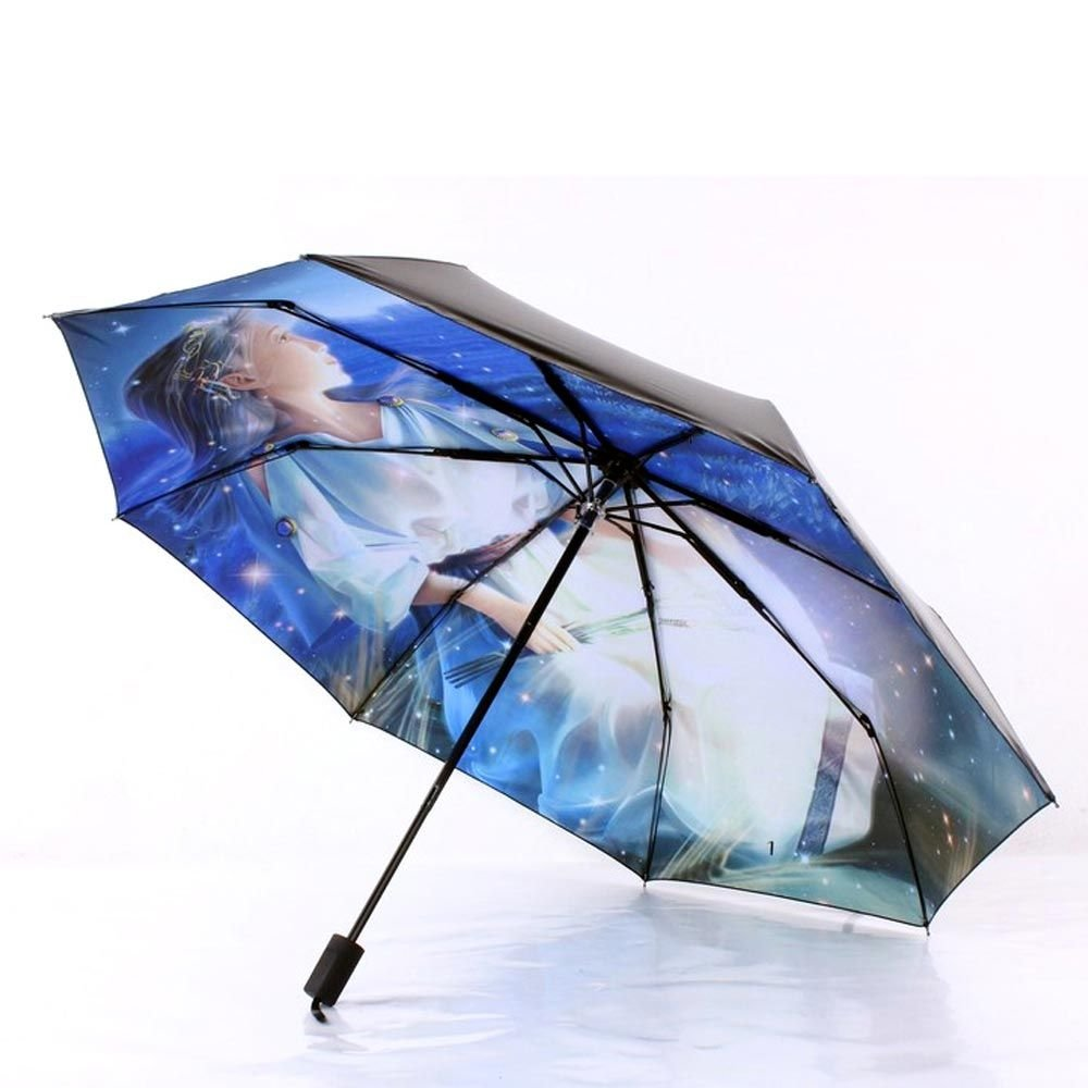 Amazon.com: VANKER Folding Horoscopes Star Signs Anti-UV Rain Sun Arts Umbrella Paraguas Parasol Virgo: Sports & Outdoors