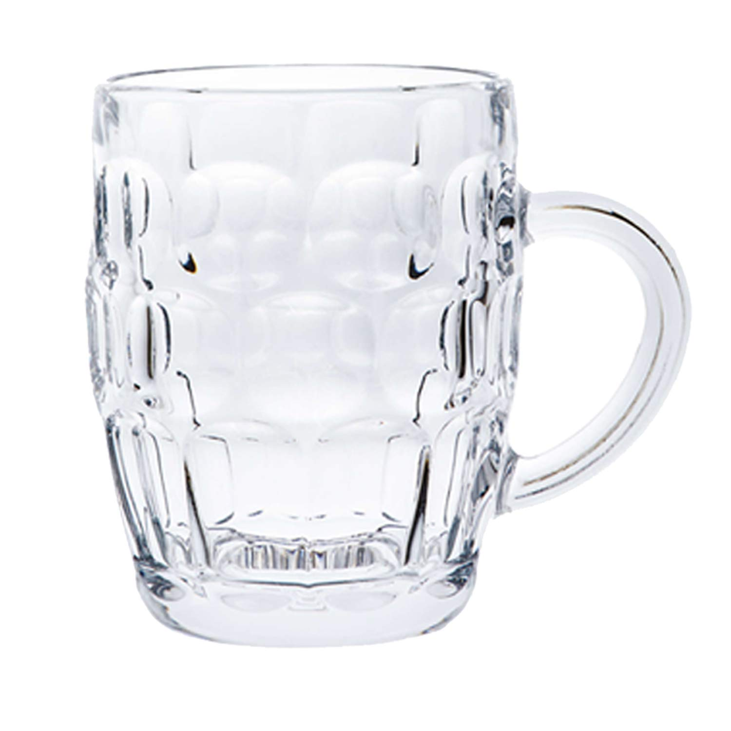 Classic Beer Pint Mugs Glass Pot Old Pub Bar Style Tankard Handle Stein Dimple (1) Guaranteed4less