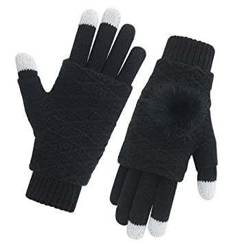 9594e3f787b Vodabang Winter Gloves Touch Screen Windproof Knit Gloves Women Warm Gloves  for Ladies Outdoor Cycling Running