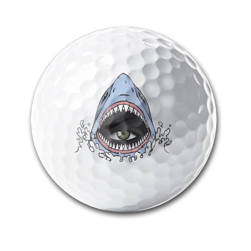 Eye In Shark Big Mouth White Elastic Golf Balls Practice Golf Balls Golf Training Aid Balls