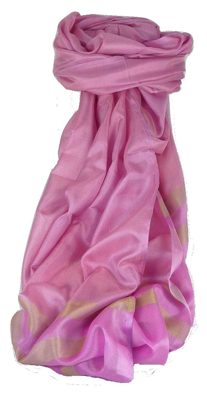 Varanasi Border Premium Silk Long Scarf Heritage Range Misra 104 by Pashmina & Silk