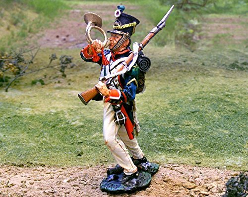 Napoleonic Toy Soldiers French Line Infantry Blowing Corne Collectors Showcase Toy Soldiers Painted Metal Figure CS00666 B00ULQS7TY