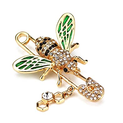 99b46423c TOOGOO Cute Honeybee Women Brooches Animal Shapes Crystal Bee Brooch ...
