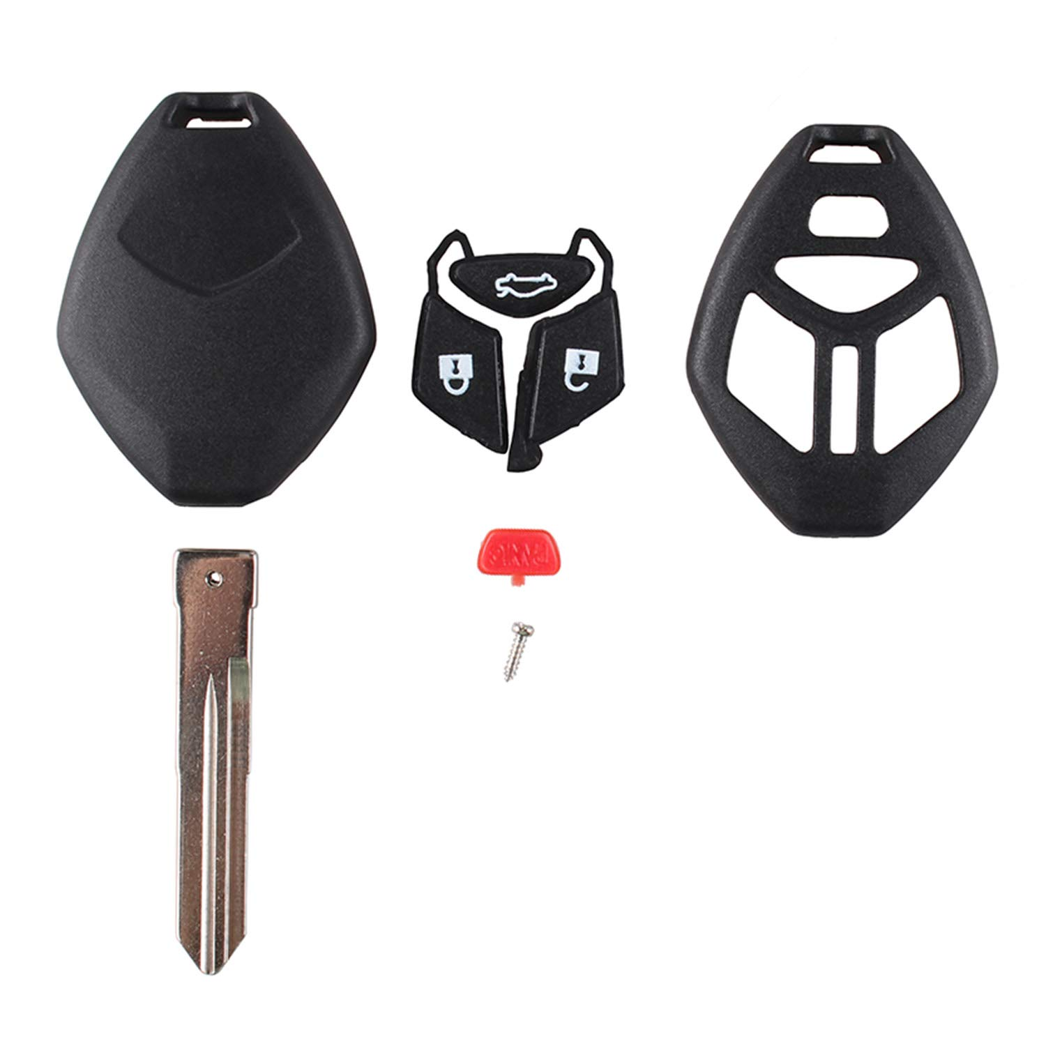 4 Buttons Remote Key fob for 2006-2007 Mitsubishi Galant for Mitsubishi Eclipse 2006 /& 2008, Left Blade
