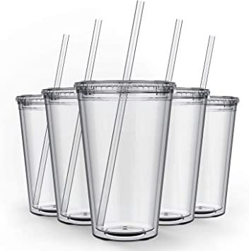 Amazon Com Maars Clear Classic Insulated Tumblers 16 Oz Double Wall Reusable Plastic Acrylic Perfect For Parties Birthdays Customization 12 Pack Bulk Home Improvement