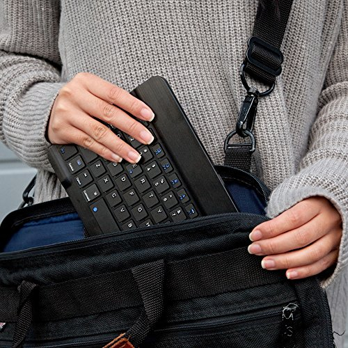 Apple iPhone 7 Plus Keyboard, BoxWave [SlimKeys Bluetooth Keyboard] Portable Keyboard with Integrated Commands for Apple iPhone 7 Plus - Jet Black by BoxWave (Image #7)