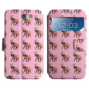 LEOCASE elefante lindo Funda Carcasa Cuero Tapa Case Para Samsung Galaxy Note 2 N7100 No.1003281