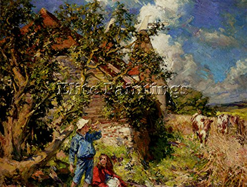 SYMONS WILLIAM CHRISTIAN LITTLE BOY BLUE RED RIDING HOOD ARTIST PAINTING CANVAS 24x32inch MUSEUM QUALITY by Elite-Paintings
