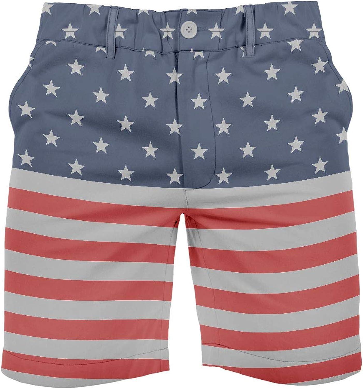 Tipsy Elves Men's USA Patriotic Shorts - American Flag Shorts