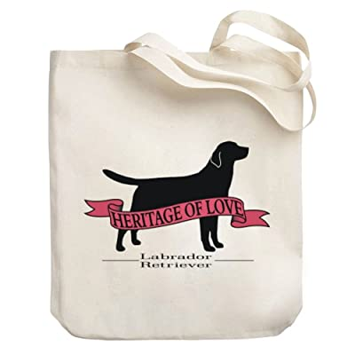 60%OFF Teeburon HERITAGE OF LOVE Labrador Retriever Canvas Tote Bag