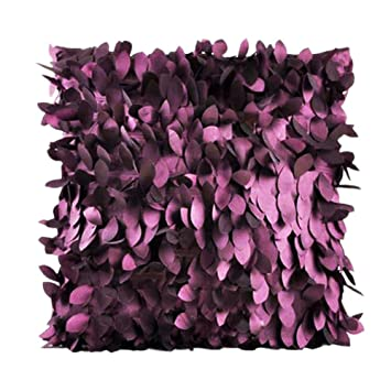 Fallen Leaves Feather Couch Cushion Cover Home Sofa Throw Pillow Case Purple