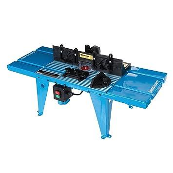 Silverline 460793 Mesa de fresado con transportador de ángulos, Azul