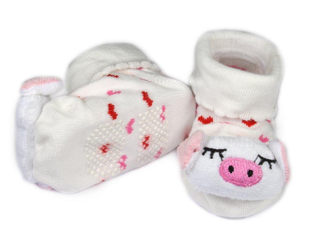 Bonamart Cartoon Baby Girl Boy Anti-slip Socks Slipper Shoes Boots 0-6M Many patterns Pig