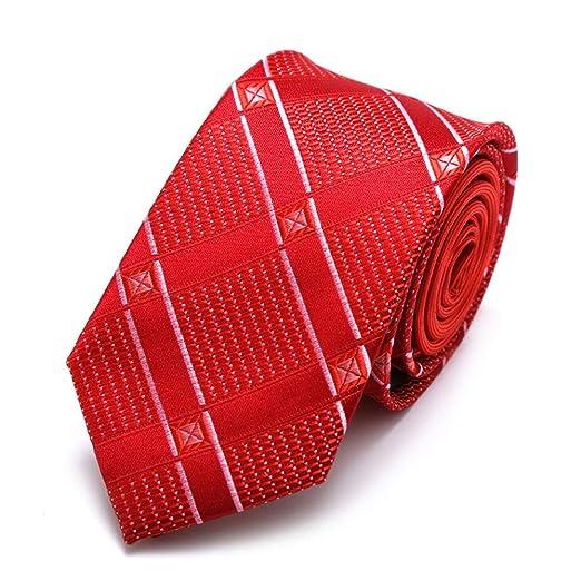 Easy Go Shopping Patrón de Rejilla roja Poliéster Textil Hombres ...