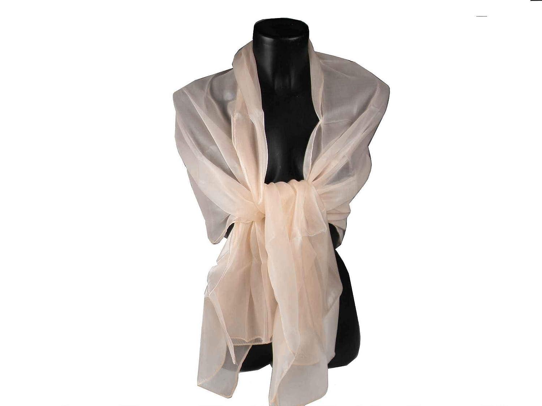 83933a4be2c1 Avantgarde Stola cerimonia donna scialle elegante stole coprispalle a  scelta raso lucido colore colour rosa carne cipria  Amazon.it  Abbigliamento