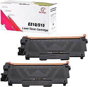 Compatible E310 Toner Cartridge Replacement for Use in Dell E514dw Dell E515dw Dell E515dn for Brother E310 E514 E515 E310dw(Black,2-Pack)