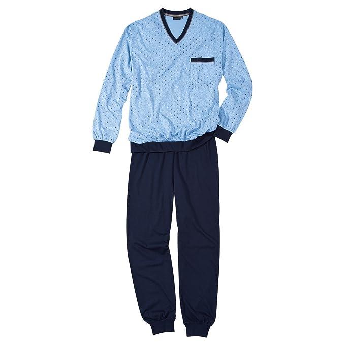 Pijama Götzburg color celeste estampado tallas XXL, 60/62-80:58