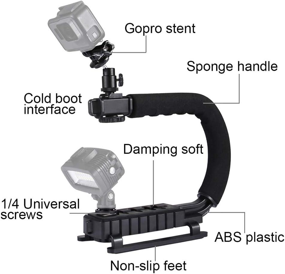 PULUZ U-Shaped Portable C-Frame Frame Set with Microphone L-Frame Light Supplement Lamp