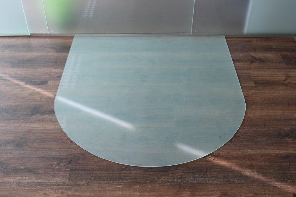 Milchglas Platte Glasbodenplatte Funkenschutzplatte Kaminplatte Glas Ofen Platte Milchglas Bodenplatte Kaminofenplatte Unterlage (Milchglas Rundbogen 100x110cm [RB100 110]) a18533