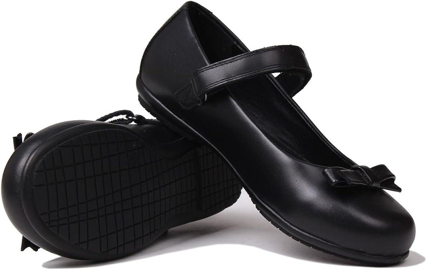 Kangol Girls Highstead Children Shoes Hook Loop Strap Bow