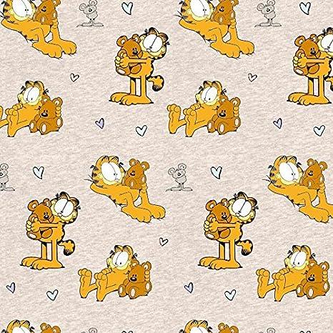 Stoffbreite Garfield Gatos Beige Oso Naranja Beige Arena Crema Jaspeado - Jersey biostoff biojersey - 145 cm de Ancho - 50 cm por Unidad: Amazon.es: Hogar