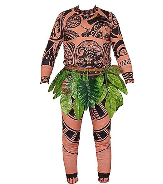 Pants Halloween Mens Women Kids Cosplay Costume AU Moana Maui Tattoo T Shirt