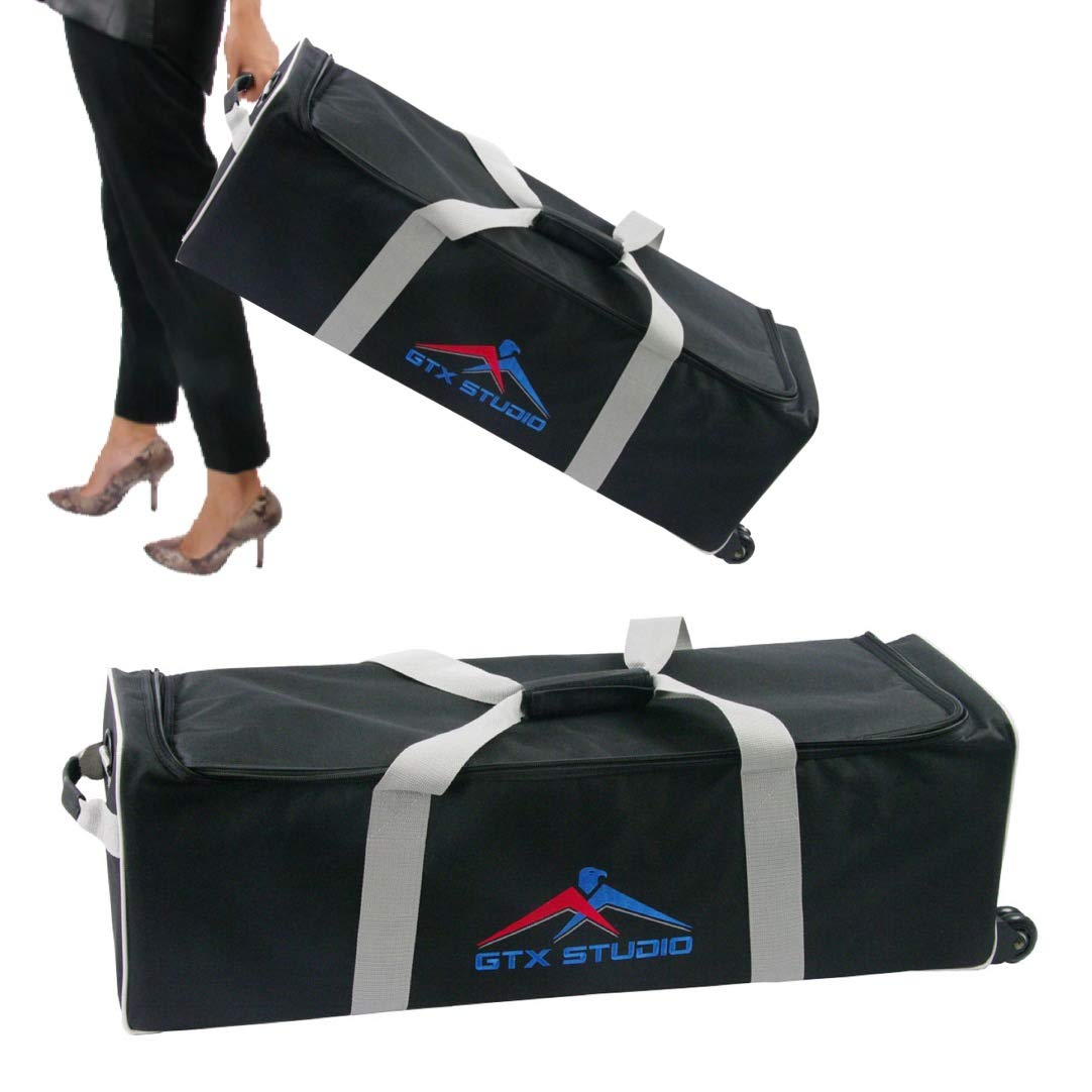Photo Studio Lighting Kit Carry Carrying Bag with Wheels Fits 2 Light Heads, 2 Stands, 2 Umbrellas or Softboxes Extra Large