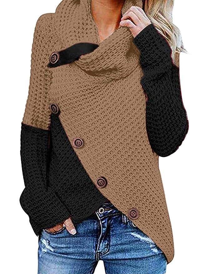 Women Pullover Sweater black Khaki